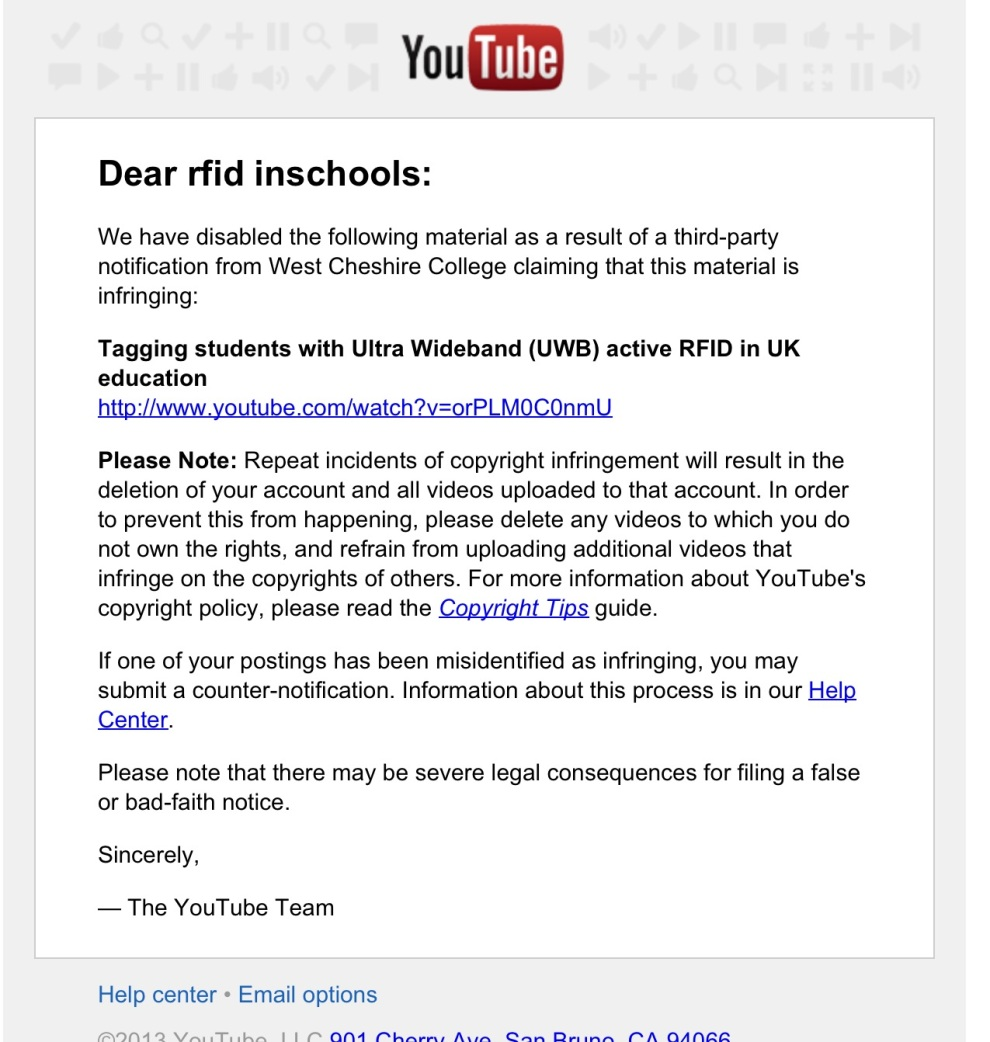 Youtube banning video Aug 8th 2013