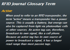 RFID Active definition